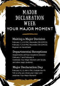 major/minor declaration