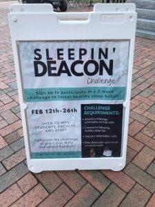 Sleepin Deacon challenge info board