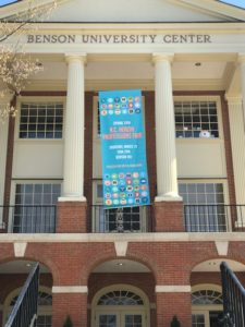 Health Professions banner on the Benson Center
