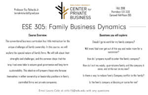 Family Business course flyer
