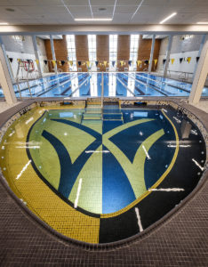 A view of the new pool and aquatics area in the renovated Reynolds Gym on the campus of Wake Forest University, Thursday, March 22, 2018.