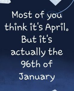 96th of january joke