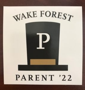 Parent/family member of the Class of '22 sticker