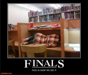 Finals week meme