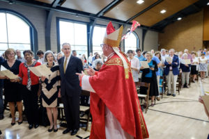 Wake Forest University holds a Catholic mass for graduating students and their families, led by His Eminence Timothy Cardinal Dolan, in the Sutton Center on Sunday, May 20, 2018.