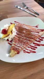 crepes from Penny Path Cafe in Reynolda Village