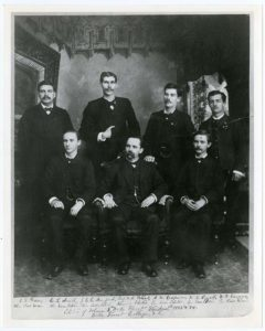 Editors of the student literary magazine 1883-84