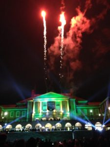 Fireworks from the Wake Will campaign kickoff