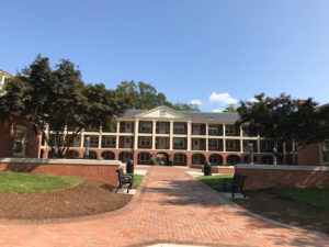 The new open courtyards of Davis and Taylor halls