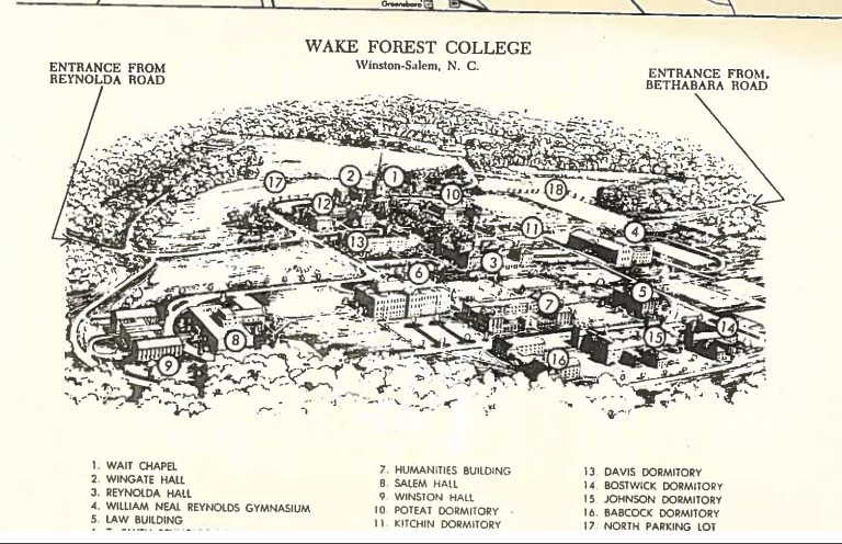 Salem College Campus Map.Campus Map 1966 Parents Families