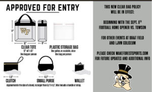 clear bag policy graphic