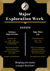 Events for Major Exploration Week