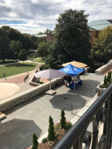 Student Union tent outside the Pit entrance