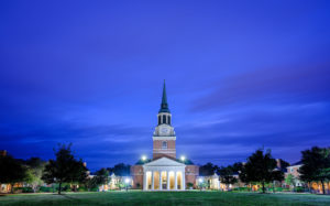 Wake Forest's Quad at Twilight