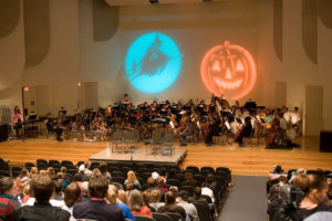 The Wake Forest orchestra presents the annual Hallowe'en Concert under the baton of professor David Hagy at midnight