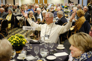 Wake Foresters return to campus for Homecoming 2018 on Friday, November 2, 2018. The Golden Deacs, those alumni who graduated at least fifty years ago, gather for lunch.