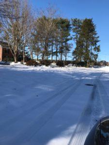 unplowed neighborhood road