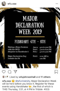 Major Declaration Week workshops