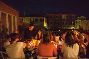 Communal meal at Casa Artom