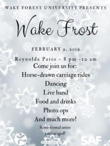 Wake Frost semi formal event