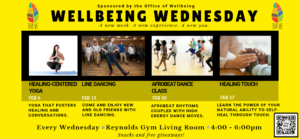 Wellbeing Wednesday offerings