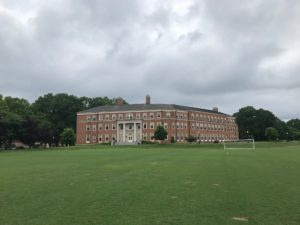 storm over Farrell Hall