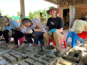 Community Based Global Learning service trip - brickmaking in southeast Asia