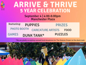 Arrive and Thrive flyer: 9/4 from 4-6 pm