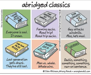 abridged classics with funny one line titles