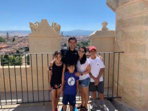 José Villalba and family in Barcelona