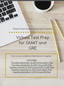 Virtual test prep for GMAT and GRE