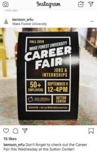 Fall Career Fair flyer - event is 9/11