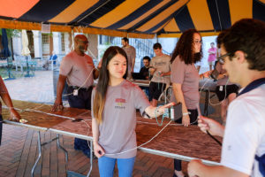 scanning your team ID card at Hit the Bricks