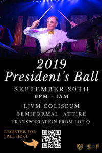 2019 President's Ball ad - September 20th