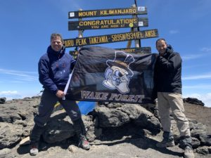 Deac parents on top of Mt Kilimanjaro