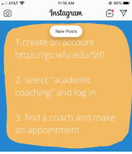 Academic coaching sessions