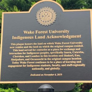 indigenous peoples acknowledgement plaque