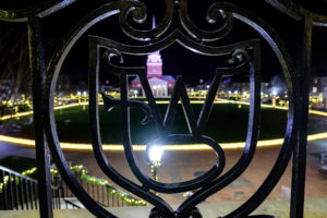 Luminaries line Hearn Plaza on the campus of Wake Forest University on Sunday, December 8, 2019, to honor the more than 5000 individual donors to the Wake Will Lead campaign.