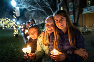 friends at lighting of the quad