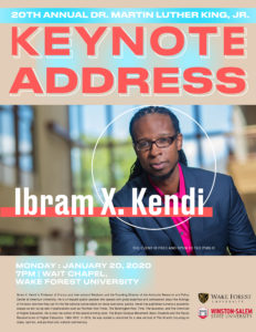 poster: Keynote address by Dr. Ibram X. Kendi