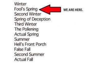 The 12 seasons of NC weather