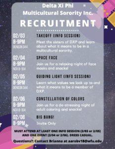 Delta Xi Phi multicultural sorority recruitment info