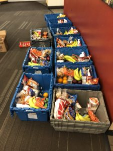 grocery bins for on-campus students