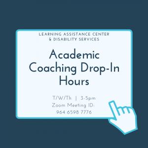 Academic Coaching Drop In Hours