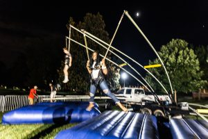 Student Union hosts aWake All Night, a fun night of various casino games, a bungee jump, karaoke, among other things, in Benson on Saturday, September 7, 2019.