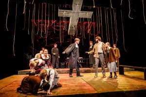 The Wake Forest Theatre holds the final dress rehearsal for The Crucible, written by Arthur Miller and directed by Sharon Andrews, on the Tedford Stage on Thursday, October 31, 201