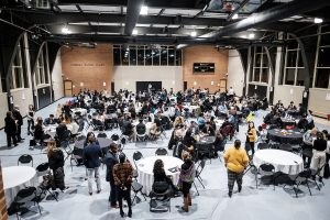 The Wake Forest Office of Personal and Career Development (OPCD) holds a career event with students and recruiters, Diversity Matters, in the Sutton Center gym on Tuesday, January 21, 2020