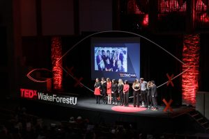 Wake Forest University hosts a TedX Conference in Wait Chapel on Saturday, February 22, 2020. The organizers are recognized.