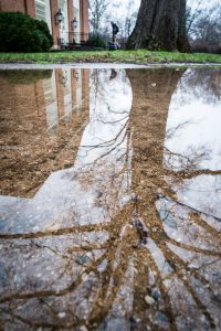 puddle on the Mag quad