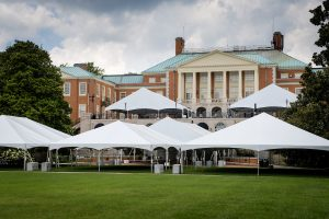Tents on the Mag Patio and Manchester Plaza (aka Mag Quad)